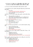 Ngân hàng câu hỏi, đáp án bồi dưỡng cấp chứng chỉ an toàn làm việc trên phương tiện chở hóa chất