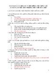 Ngân hàng câu hỏi, đáp án bồi dưỡng cấp chứng chỉ an toàn làm việc trên phương tiện chở hóa chất 5