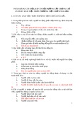 Ngân hàng câu hỏi, đáp án bồi dưỡng cấp chứng chỉ an toàn làm việc trên phương tiện chở xăng dầu 2
