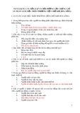Ngân hàng câu hỏi, đáp án bồi dưỡng cấp chứng chỉ an toàn làm việc trên phương tiện chở khí hóa lỏng 6