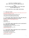 Ngân hàng câu hỏi thi và đáp án bổ túc cấp GCNKNCM thuyền trưởng hạng tư