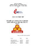 Báo cáo thực tập: Tìm hiểu qui trình sản xuất các chả giò da xốp tại Công ty VISSAN