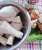 8 bước làm đùi gà chiên nước cốt dừa