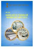 Đề án: Khảo sát ngành dệt may Việt Nam 2013 - Hiệp hội dệt may Việt Nam