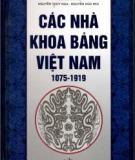 Ebook Các nhà khoa bảng Việt Nam từ 1075 - 1919: Phần 2 - Ngô Đức Thọ, Nguyễn Thúy Nga, Nguyễn Hữu Mùi