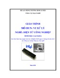Giáo trình Vi xử lý - Nghề: Điện tử công nghiệp - Trình độ: Cao đẳng (Tổng cục Dạy nghề)
