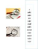 4 mẫu đơn xin việc phổ biến dành cho nhân viên văn phòng