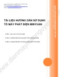 Tài liệu hướng dẫn sử dụng tổ máy phát điện Minyuan - Cty THHH Điện máy Mẫu Nguyên Việt Nam