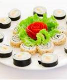 Khéo tay làm cơm cuộn sushi chay