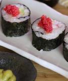 6 bước làm sushi kiểu Việt Nam cực đơn giản
