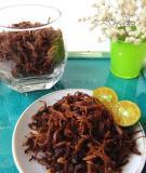 Chế biến thịt bò khô chay từ chân nấm cực hấp dẫn
