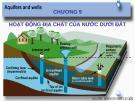 Bài giảng Địa chất đại cương: Chương 9 - Hoạt động địa chất của nước dưới đất