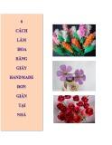 6 Cách làm hoa bằng giấy handmade đơn giản tại nhà