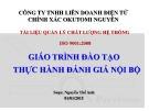 Bài giảng Giáo trình Đào tạo thực hành Đánh giá nội bộ - Nguyễn Thế Anh