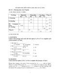 Đề kiểm tra học kì 2 môn Tiếng Anh lớp 6 (Đề 1)