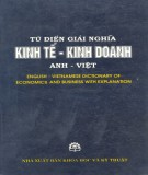 Ebook Từ điển giải nghĩa kinh tế - kinh doanh Anh - Việt: Phần 1 - NXB Khoa học và Kỹ thuật