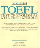 Ebook TOEFL test of English as a foreign language: Phần 1 - Edith H. Babin, Carole V. Cordes
