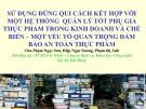 Bài thuyết trình Quản lý phụ gia thực phẩm - Hội Hóa học TP Hồ Chí Minh