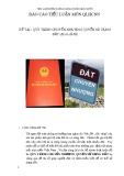 Báo cáo tiểu luận môn Quản lý hành chính Nhà nước: Quy trình chuyển nhượng quyền sử dụng đất (đã có sổ đỏ)