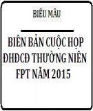 Biên bản cuộc họp ĐHĐCĐ thường niên FPT năm 2014