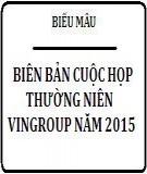 Biên bản cuộc họp ĐHCĐ thường niên tập đoàn VINGROUP năm 2015