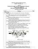 Đáp án Đề thi tốt nghiệp Cao đẳng nghề khóa II (2008 - 2011) nghề Công nghệ ô tô môn Lý thuyết chuyên môn nghề (Mã đề thi: DA OTO-LT45)