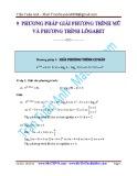 9 Phương pháp giải phương trình mũ và phương trình logarit - Trần Tuấn Anh