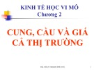 Bài giảng Kinh tế vi mô - Chương 2: Cung, cầu và giá cả thị trường - ThS. Phan Thị Kim Phương