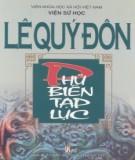 Ebook Lê Quý Đôn – Phủ biên tạp lục: Phần 1  – NXB Văn hóa – Thông tin