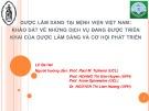 Dược lâm sàn tại bệnh viện Việt Nam: Khảo sát về những dịch vụ đang được triển khai của dược lâm sàn và cơ hội phát triển - Le Ba Hai