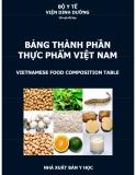 Ebook Bảng thành phần thực phẩm Việt Nam: Phần 1 - NXB Y học