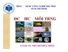 Bài giảng môn Độc học môi trường - Chương 4: Độc học môi trường không khí (Phần 2) - TS. Trần Thị Thúy Nhàn
