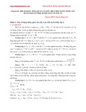 Chuyên đề: Tìm số hạng tổng quát của dãy truy hồi tuyến tính cấp 2 để giải quyết một số bài toán về dãy số - Trường THPT chuyên Hưng Yên