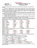 Bộ đề thi thử Đại học môn Tiếng Anh