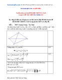 Tuyển chọn các bài Hình học không gian trong 21 đề thi thử Tây Ninh 2015