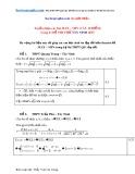 Tuyển chọn các bài Max – Min (câu 10 điểm) trong 21 đề thi thử Tây Ninh 2015