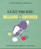 Ebook Luật thi đấu Billiard-snooker: Phần 1 - Ủy ban Thể dục Thể thao