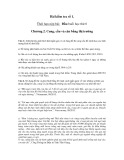 Bài kiểm tra số 1 Chương 2: Cung, cầu và cân bằng thị trường