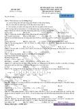 Đề thi thử Quốc gia năm 2015 môn Hóa học khối A, B