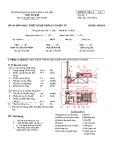 Mẫu đề môn Thiết kế hệ thống cơ điện tử (Đề 2) - ĐH Bách khoa Hà Nội