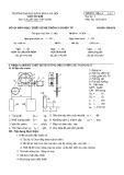Mẫu đề môn Thiết kế hệ thống cơ điện tử (Đề 1) - ĐH Bách khoa Hà Nội
