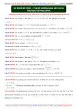 Dự đoán Số phức - Tọa độ không gian OXYZ 2015 - Thầy Đặng Việt Hùng