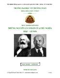 Trắc nghiệm môn học Những nguyên lí cơ bản của chủ nghĩa Mác - Lênin