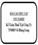 Báo cáo thực tập tốt nghiệp: Kế toán thuế tại công ty TNHH Vũ Hùng Long
