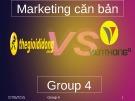 Bài thuyết trình Marketing căn bản: So sánh Viễn thông A và Thế giới di động