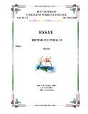 Essay British cultural II