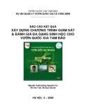 Báo cáo kết quả xây dựng chương trình Giám sát & đánh giá đa dạng sinh học cho vườn quốc gia Tam Đảo