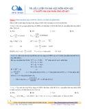 Tài liệu luyện thi Đại học môn Hóa học Lý thuyết kim loại phản ứng với axit