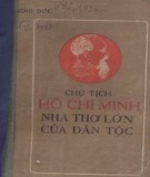 Nhà thơ lớn của dân tộc - Chủ tịch Hồ Chí Minh: Phần 1