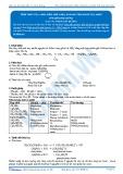 Tính chất của amin, điều chế amin, so sánh tính bazo của amin (Tài liệu bài giảng)